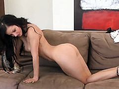 Melisa Mendiny does her best to get you hot in solo scene