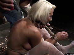 Blonde Szandi cant resist mans hard dick and takes it up the ass