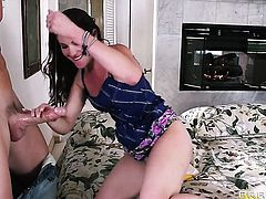 Johnny Sins explores the depth of breathtakingly beautiful Samantha Ryans wet vagina with his meat pole