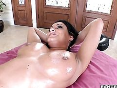 Brunette Charley Chase with phat booty knows how to take oral sex to the whole new level