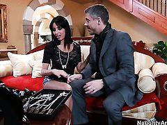Mick Blue makes Yummy babe Anissa Kate scream and shout with his rock solid rod in her snatch