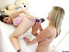 Kiera King and Chastity Lynn spend time having lesbian sex