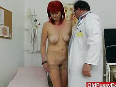 Milada loves when guys touch her intimate body parts, but she never imagined that she gets turned on so badly by a mature gyno exam in a clinic