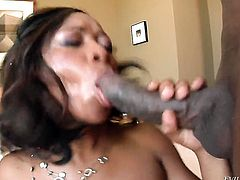 Imani Rose is wet as the ocean in this steamy interracial scene with lots of pussy drilling