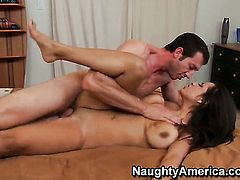 Chachita Yurizan Beltran with massive boobs and clean bush just needs her overwhelming sexual desire to be fulfilled very badly in sex action with Jordan Ash