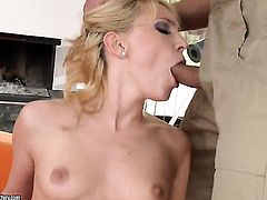 Blonde Nataly Von doing lewd things in anal action