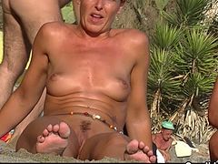 Nude Milfs Tannning naked At The Beach - Voyeur HD Spycam