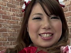 Horny Japanese slut is using a vibrator on her clit. She is good at getting herself off. The milf looks amazing in this scene as she is masturbating.