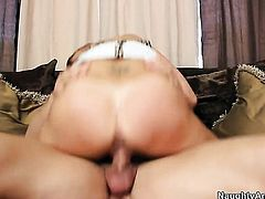 Johnny Castle uses his throbbing love stick to bring Michelle Lay to the height of pleasure