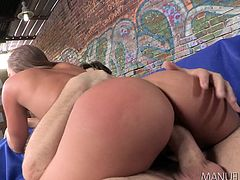 An extremely sexy babe with long brown hair is ready to have fun with her passionate lover. After her crazy ass is rimmed, she gets so excited! Click to watch this insatiable lady, sucking cock with fervor. Enjoy the hardcore scenes that follow.