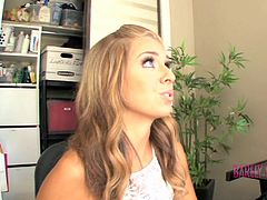 Cute blonde Madelyn Monroe gets her teen twat pounded by her cock