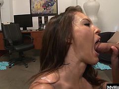 Jenna Presley ends up with a big load of cum on her nice round tits after she gets taken for a ride on the sybian Its a powerful sex toy that makes any woman cum harder than she ever has before. After she goes for a ride, she sucks a dick and takes another ride on a hard cock
