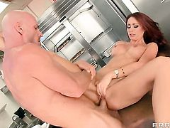 Johnny Sins attacks enchanting Monique AlexanderS mouth with his love torpedo