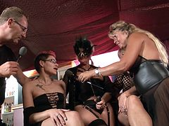 These hot mature German babes are ready and set to get the swinging started. They lick, fist and feast plunging into each other wet cavities. Real delicious Lesbian Swingers.