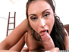 Brunette Claudia Valentine is just in need of sexual pleasure and gets some