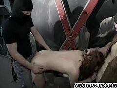 A very naughty amateur Milf homemade hardcore gangbang action with huge facial cumshot at the end ! Genuine amateur...