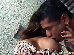 man eating big breast brazilian babes pussy and fuck her deep anal