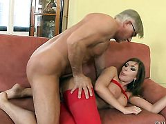 Christoph Clark explores the depth of seductive Donna Bells butthole with his tool
