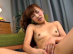 Anna Anjo is a lovely Asian solo girl. She is seen playing with herself. Then she is joined by her lover that is holding the camera and he films her as she sits on his dick.