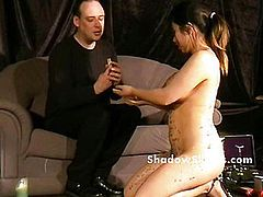 Bdsm reality show of asian slave Tigerr Benson drawing punishments and hot waxing torments of busty