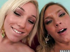 Blonde opens her legs to be tongue fucked by lesbian Ally Kay