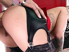 Mick Blue uses his rock hard meat pole to bring Saucy babe Christy Mack with juicy breasts to the height of pleasure