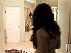 Eva Angelina finds man hot and takes his hard sausage in her mouth
