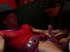 Ann Marie takes massive cumshot on her pretty face