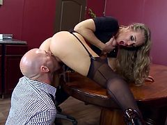 Visit official Brazzers Network's HomepageBlonde office whore with amazing tits goes nasty on boss's dick by sucking it hard and letting it deep smash her shaved cherry in hardcore