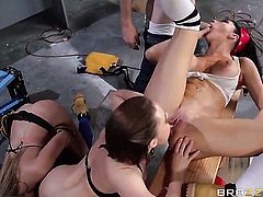 Mia Lelani with massive tits is an oral slut who knows what to do with Danny Ds stiff meat stick