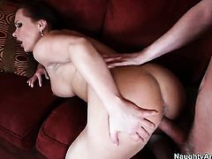 Dane Cross plays with saucy Katja Kassins muff before he bangs her hole with his rock hard man meat
