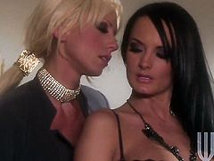 Horny pornstar Tanya James has some time to get some pleasure with lesbian Alektra Blue