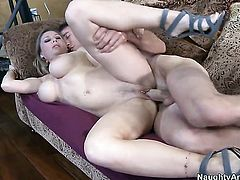 Devon Lee with round ass is in heat in porn action with horny fuck buddy Jordan Ash
