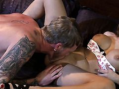 Aleksa Nicole milks cum loaded fuck stick of her dude
