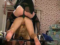 redhead mistress and her anal sub male