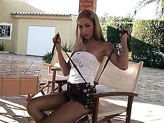 Brigitte Hunter has a body of a beauty goddess and shows it all in steamy solo scene