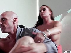Johnny Sins has a good time fucking Diamond Foxxx  Mackenzee Pierce with big knockers