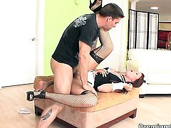 Lizzie Tucker satisfies mans sexual needs and desires and then gets cum drenched