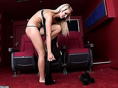 Blonde woman loves fucking herself for you to watch and enjoy
