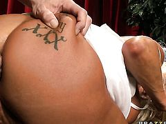 Johnny Sins plays with amazing JR Carringtons butt after he fucks her hole with his stiff man meat