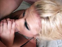 Billy Glide gets pleasure from fucking glammed up Jessica Nyxs mouth