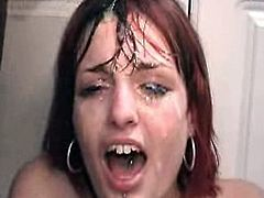 Cum Shower For Young Red Head