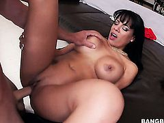 Lustful chica whore Luna Star with bubbly butt and hairless twat masturbates eagerly