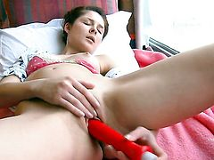Vika has a body of a beauty goddess and shows it all in steamy solo scene