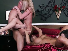 Madison Scott  Nika Noire  Jennifer White loves the way Johnny Sins plugs her cunt