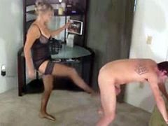 Super Ballbusting with Blonde Dominatrix