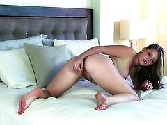Juicy gal toys her love tunnel