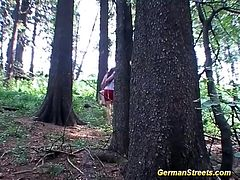 amateur couple takes a pitstop for anal sex in nature