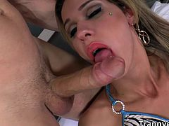 In daylight, longhaired dirty blonde TS Bianca Sereia is so seductive with her revealing voluptuous crack. hunk studs Vandayme and Tony Lee pick her up to their place as they share her stiff huge shedick and then deeply bangs her tight plump juicy ass.