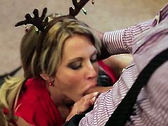 Jessica drake is ready to spend hours sucking mans meat stick non-stop